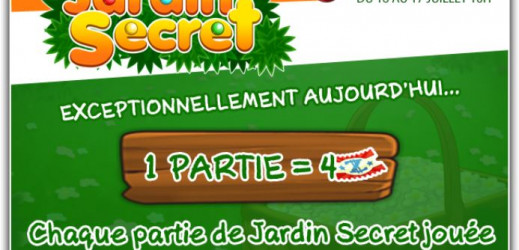 Prizee jeu flash Jardin Secret